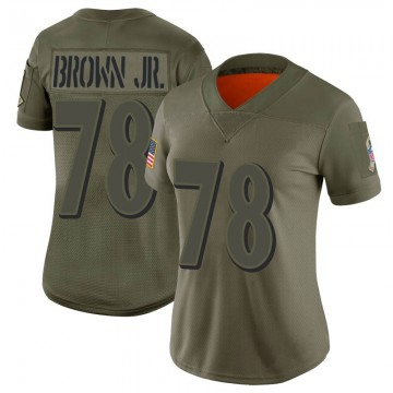 Women's Nike Baltimore Ravens Orlando Brown Jr. Brown Camo 2019 Salute to Service Jersey - Limited