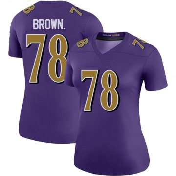 Women's Nike Baltimore Ravens Orlando Brown Jr. Purple Color Rush Jersey - Legend