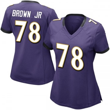 Women's Nike Baltimore Ravens Orlando Brown Jr. Purple Team Color Vapor Untouchable Jersey - Limited