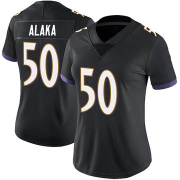 Women's Nike Baltimore Ravens Otaro Alaka Black Alternate Vapor Untouchable Jersey - Limited