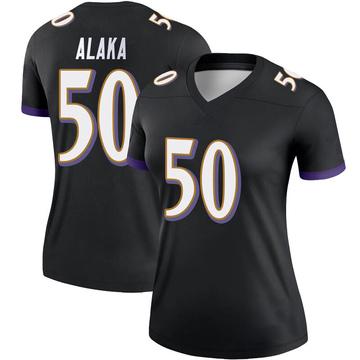 Women's Nike Baltimore Ravens Otaro Alaka Black Jersey - Legend