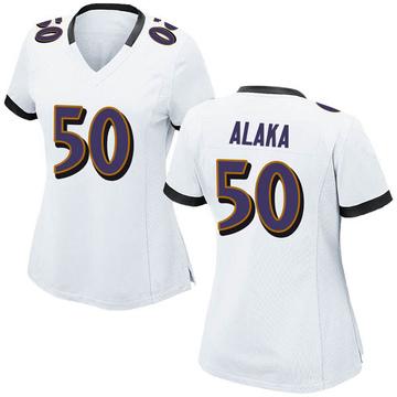 Women's Nike Baltimore Ravens Otaro Alaka White Jersey - Game