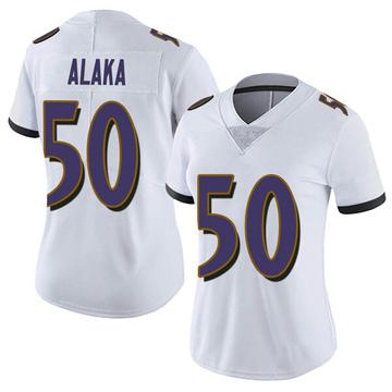 Women's Nike Baltimore Ravens Otaro Alaka White Vapor Untouchable Jersey - Limited