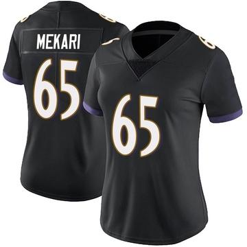 Women's Nike Baltimore Ravens Patrick Mekari Black Alternate Vapor Untouchable Jersey - Limited