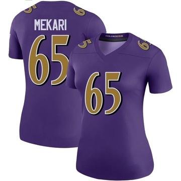 Women's Nike Baltimore Ravens Patrick Mekari Purple Color Rush Jersey - Legend