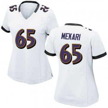 Women's Nike Baltimore Ravens Patrick Mekari White Jersey - Game