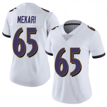 Women's Nike Baltimore Ravens Patrick Mekari White Vapor Untouchable Jersey - Limited
