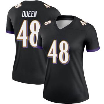 Women's Nike Baltimore Ravens Patrick Queen Black Jersey - Legend