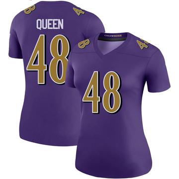 Women's Nike Baltimore Ravens Patrick Queen Purple Color Rush Jersey - Legend