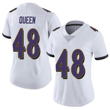 Women's Nike Baltimore Ravens Patrick Queen White Vapor Untouchable Jersey - Limited