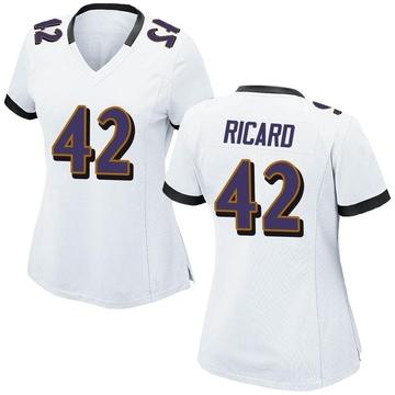 Women's Nike Baltimore Ravens Patrick Ricard White Jersey - Game