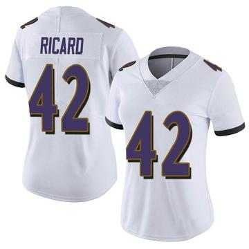 Women's Nike Baltimore Ravens Patrick Ricard White Vapor Untouchable Jersey - Limited