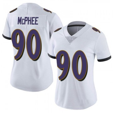 Women's Nike Baltimore Ravens Pernell McPhee White Vapor Untouchable Jersey - Limited