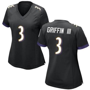 Women's Nike Baltimore Ravens Robert Griffin III Black Jersey - Game
