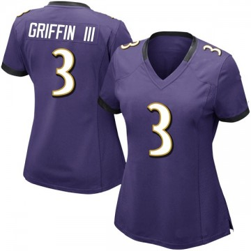Women's Nike Baltimore Ravens Robert Griffin III Purple Team Color Vapor Untouchable Jersey - Limited