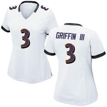 Women's Nike Baltimore Ravens Robert Griffin III White Jersey - Game