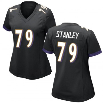 Women's Nike Baltimore Ravens Ronnie Stanley Black Jersey - Game