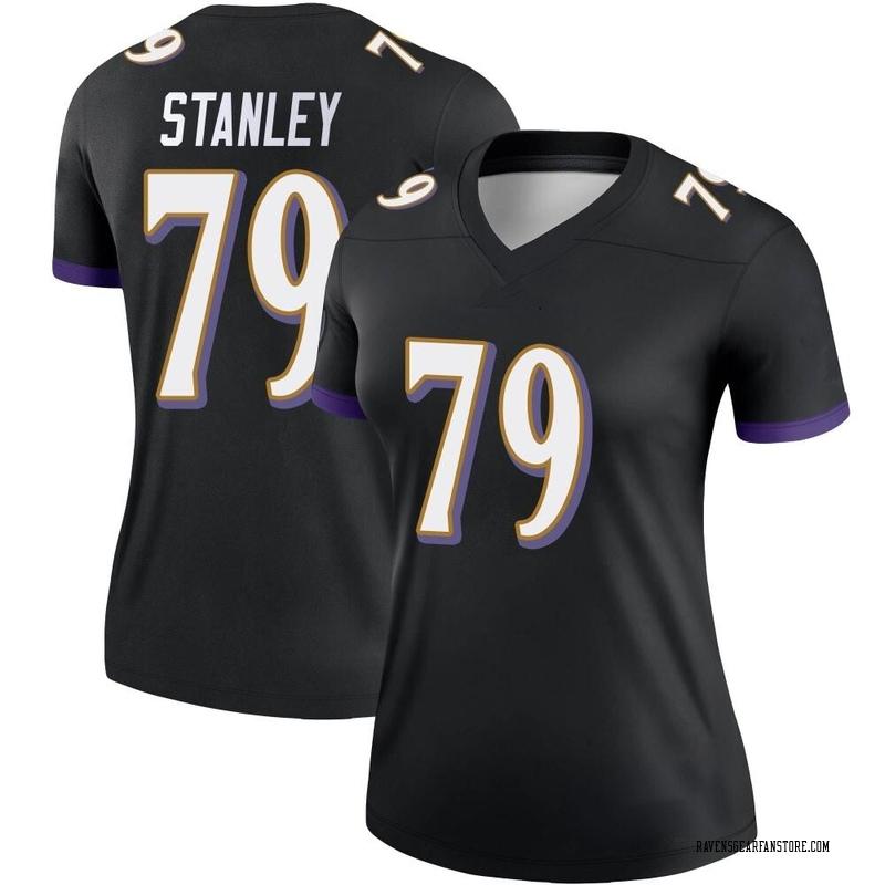 Women's Nike Baltimore Ravens Ronnie Stanley Black Jersey - Legend