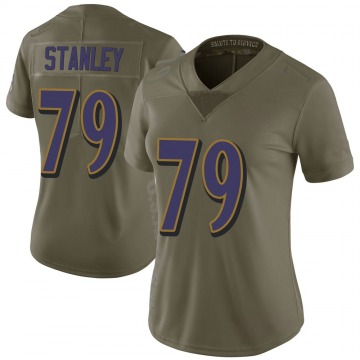 Women's Nike Baltimore Ravens Ronnie Stanley Green 2017 Salute to Service Jersey - Limited