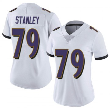 Women's Nike Baltimore Ravens Ronnie Stanley White Vapor Untouchable Jersey - Limited