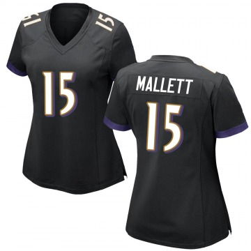 Women's Nike Baltimore Ravens Ryan Mallett Black Jersey - Game