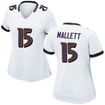 Women's Nike Baltimore Ravens Ryan Mallett White Jersey - Game