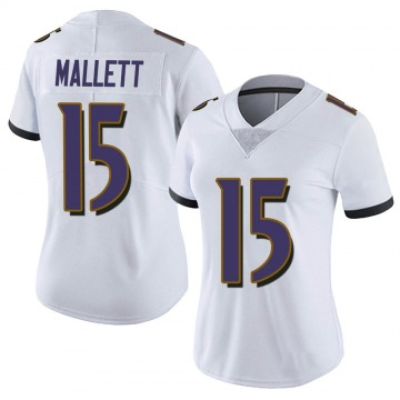 Women's Nike Baltimore Ravens Ryan Mallett White Vapor Untouchable Jersey - Limited