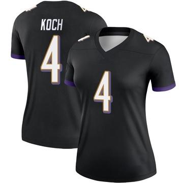 Women's Nike Baltimore Ravens Sam Koch Black Jersey - Legend