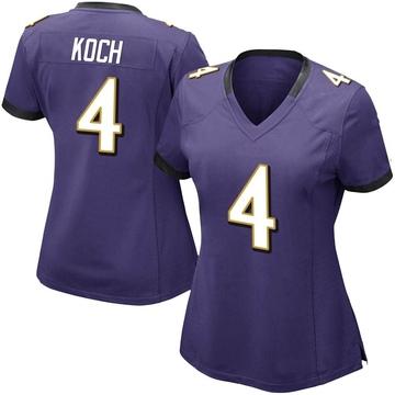 Women's Nike Baltimore Ravens Sam Koch Purple Team Color Vapor Untouchable Jersey - Limited
