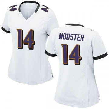 Women's Nike Baltimore Ravens Sean Modster White Jersey - Game