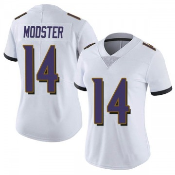 Women's Nike Baltimore Ravens Sean Modster White Vapor Untouchable Jersey - Limited
