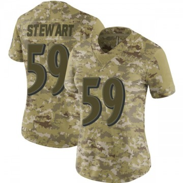 Women's Nike Baltimore Ravens Silas Stewart Camo 2018 Salute to Service Jersey - Limited