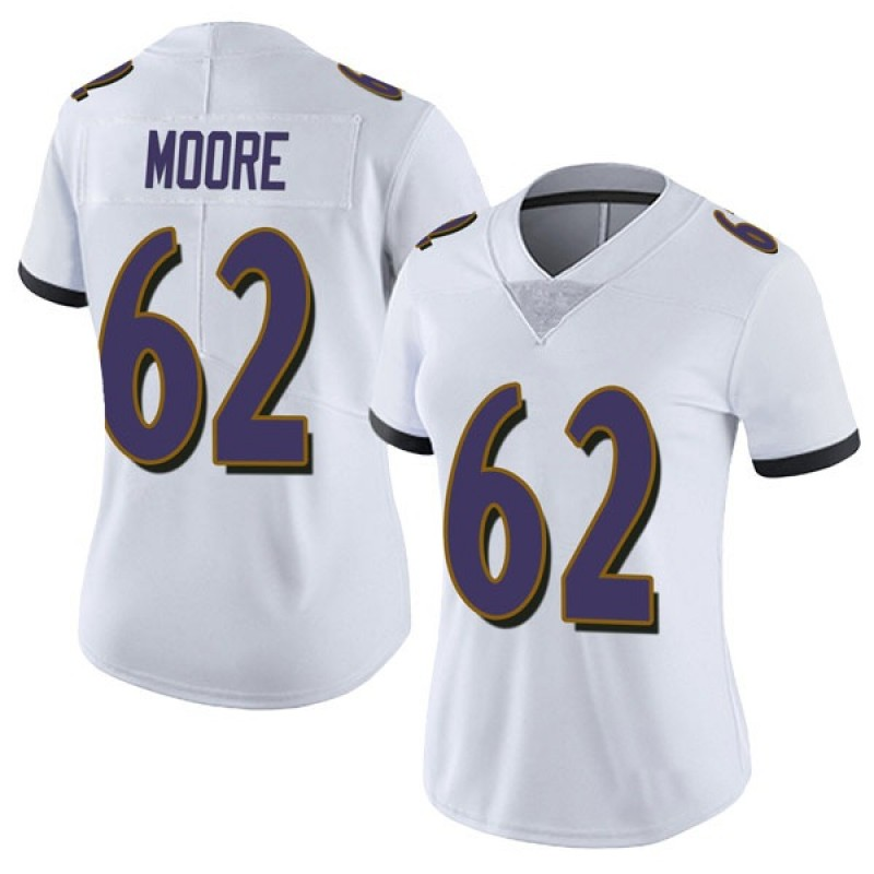 826a6a22 Women's Nike Baltimore Ravens Steven Moore White Vapor Untouchable Jersey -  Limited