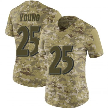 Women's Nike Baltimore Ravens Tavon Young Camo 2018 Salute to Service Jersey - Limited