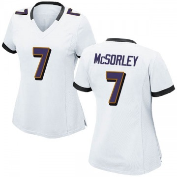 Women's Nike Baltimore Ravens Trace McSorley White Jersey - Game