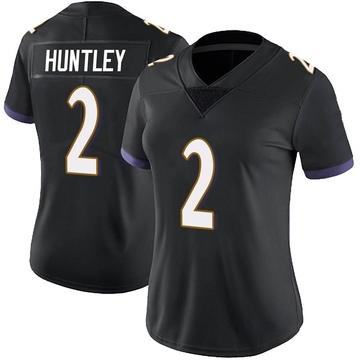Women's Nike Baltimore Ravens Tyler Huntley Black Alternate Vapor Untouchable Jersey - Limited