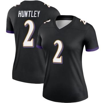 Women's Nike Baltimore Ravens Tyler Huntley Black Jersey - Legend
