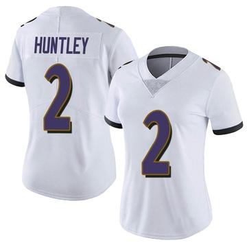 Women's Nike Baltimore Ravens Tyler Huntley White Vapor Untouchable Jersey - Limited