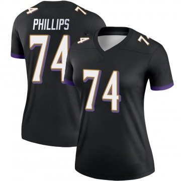 Women's Nike Baltimore Ravens Tyre Phillips Black Jersey - Legend