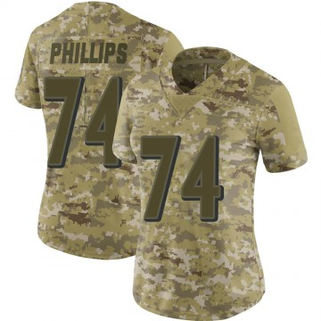 Women's Nike Baltimore Ravens Tyre Phillips Camo 2018 Salute to Service Jersey - Limited
