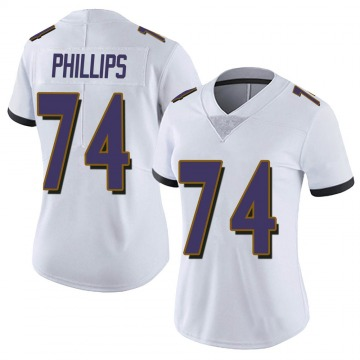 Women's Nike Baltimore Ravens Tyre Phillips White Vapor Untouchable Jersey - Limited