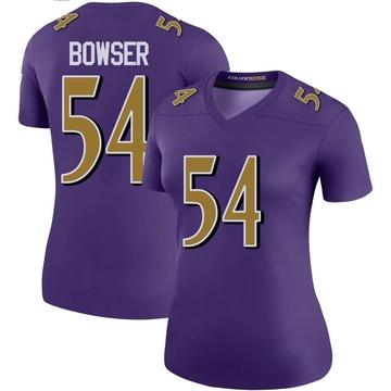 Women's Nike Baltimore Ravens Tyus Bowser Purple Color Rush Jersey - Legend