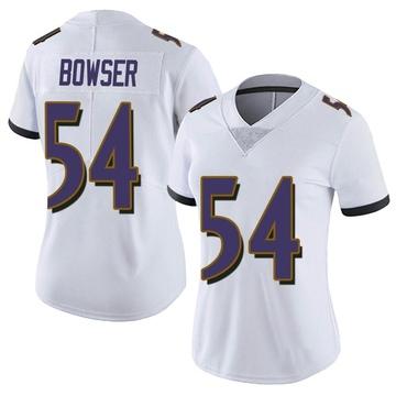 Women's Nike Baltimore Ravens Tyus Bowser White Vapor Untouchable Jersey - Limited