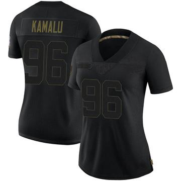 Women's Nike Baltimore Ravens Ufomba Kamalu Black 2020 Salute To Service Jersey - Limited