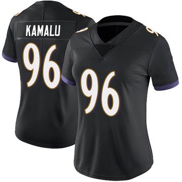 Women's Nike Baltimore Ravens Ufomba Kamalu Black Alternate Vapor Untouchable Jersey - Limited