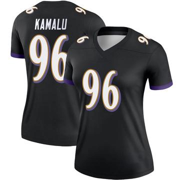 Women's Nike Baltimore Ravens Ufomba Kamalu Black Jersey - Legend