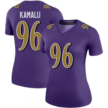 Women's Nike Baltimore Ravens Ufomba Kamalu Purple Color Rush Jersey - Legend