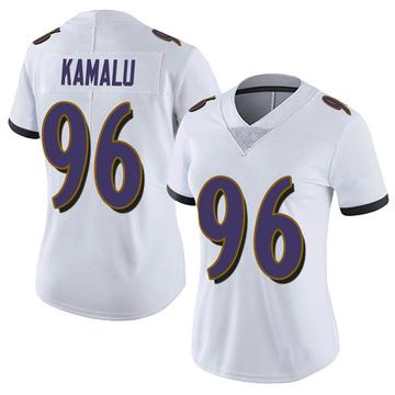 Women's Nike Baltimore Ravens Ufomba Kamalu White Vapor Untouchable Jersey - Limited