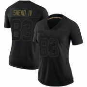 Women's Nike Baltimore Ravens Willie Snead IV Black 2020 Salute To Service Jersey - Limited