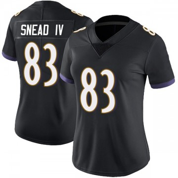 Women's Nike Baltimore Ravens Willie Snead IV Black Alternate Vapor Untouchable Jersey - Limited